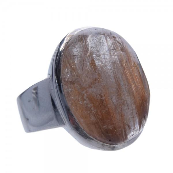 Rutilquarz Ring 925 Silber Unikat Gr. 54