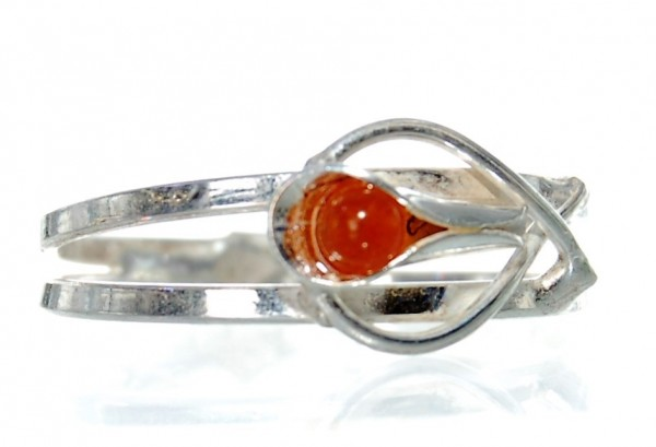 Bernstein Ring Silber Gr. 63